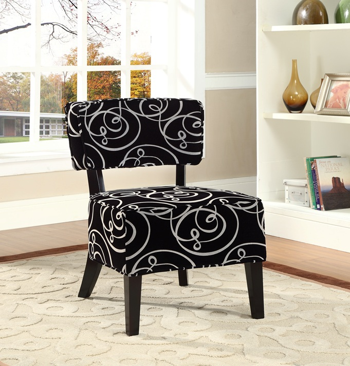 Dico Accent Chair In Black Velvet