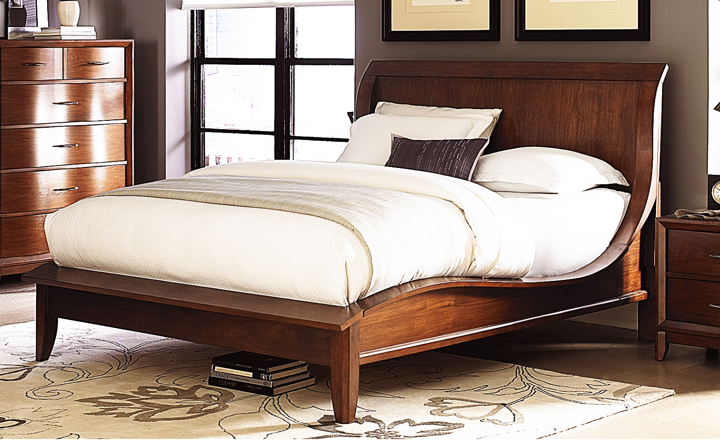 King size wood bed frame image of queen size sleigh bed for Spring hill designs bedroom furniture