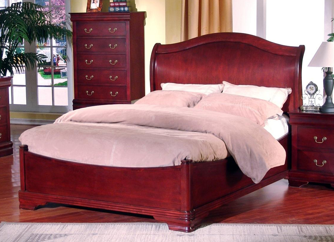 Solid Cherry Bedroom Furniture Roundhill Furniture