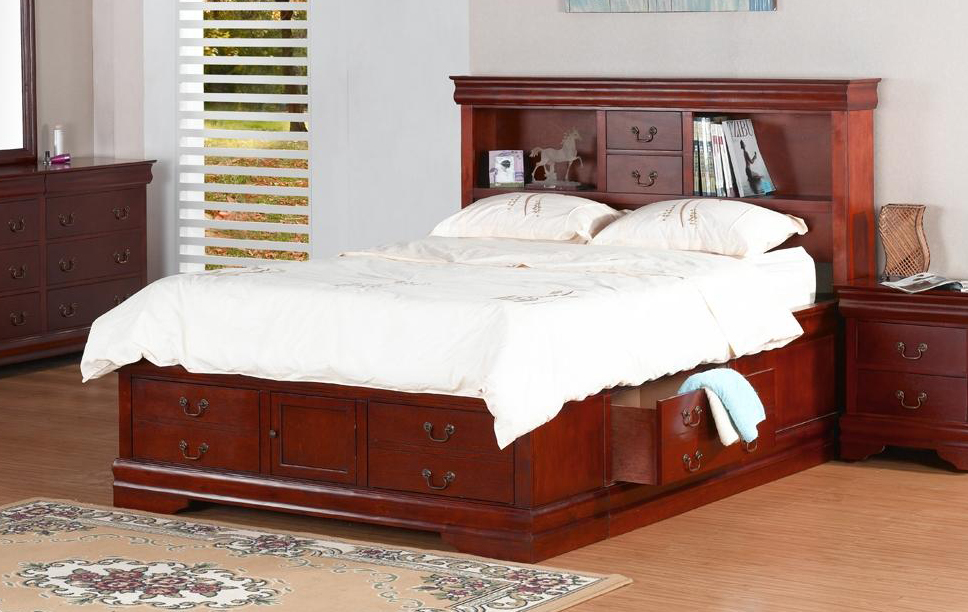 bookcase storage bed king size 2
