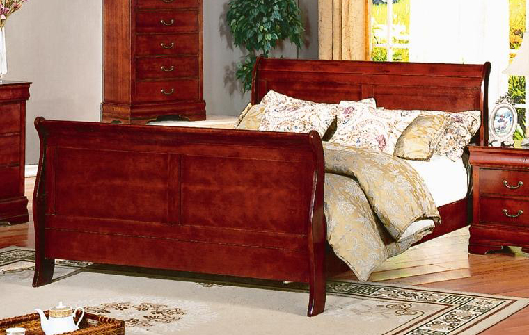 cherry king sleigh bed 2