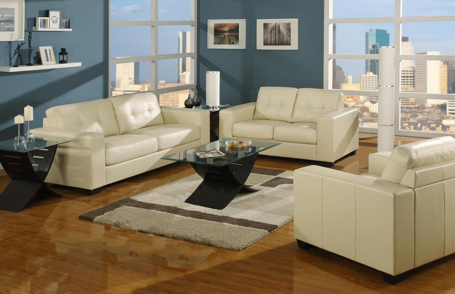 ivory living room furniture.  Roundhill Furniture