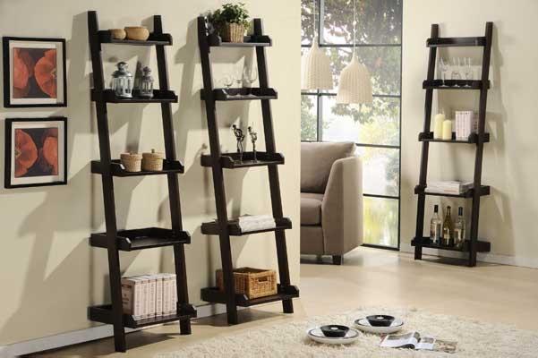 Roundhill Furniture Wooden 4 Shelves Bookcase Espresso Finish RH 3445