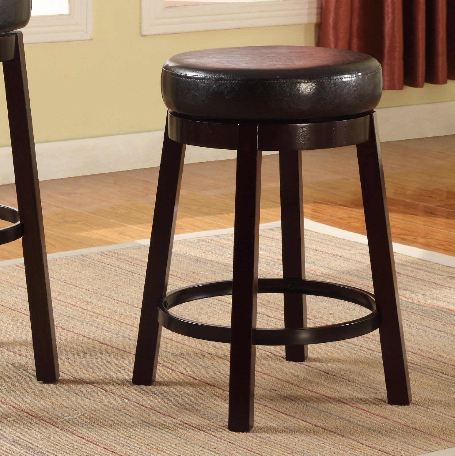 24 Swivel Counter Stool With Arms Roundhill Furniture
