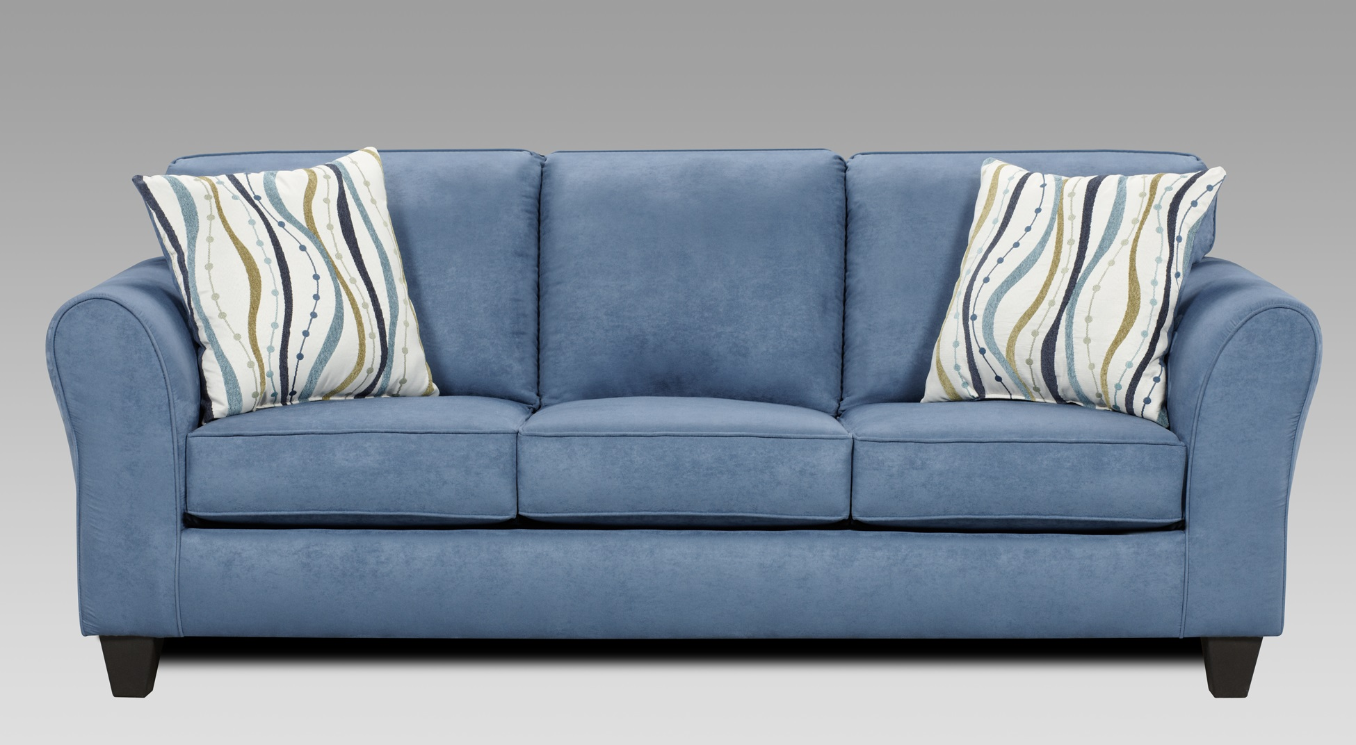 Patriot Blue Microfiber Sofa And Loveseat Set W/ Pillows , Made In USA Item  No: LAF5000PB