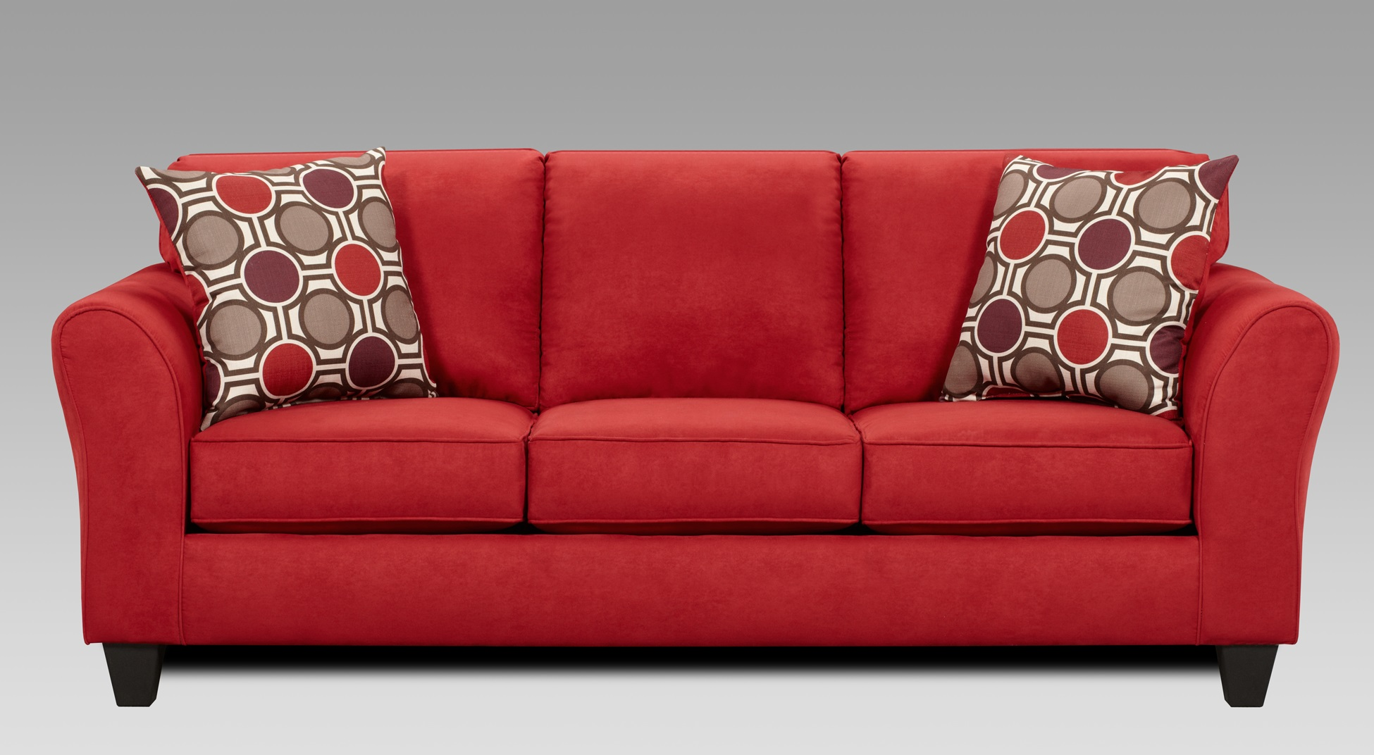 Red reclining sofa microfiber awesome red reclining sofa for Couch and loveseat